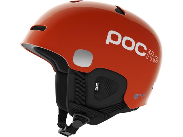 POC Kids POCito Auric Cut Spin Helmet Fluorescent Orange